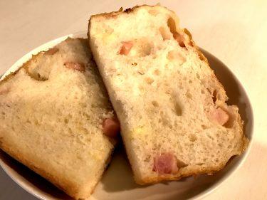 ホームベーカリーで簡単!ベーコンとチーズのパン